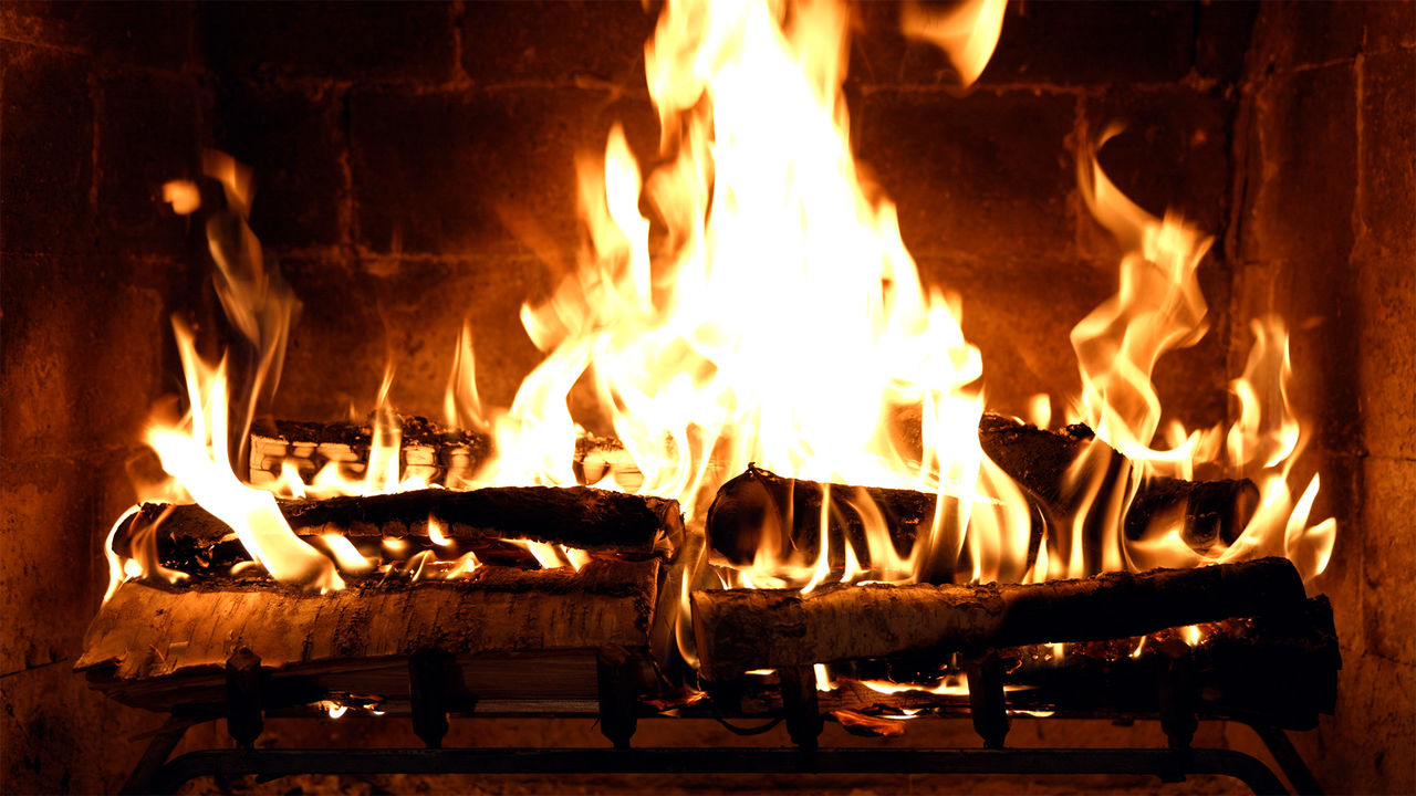 Fireplace 4K Crackling Birchwood from Fireplace for Your